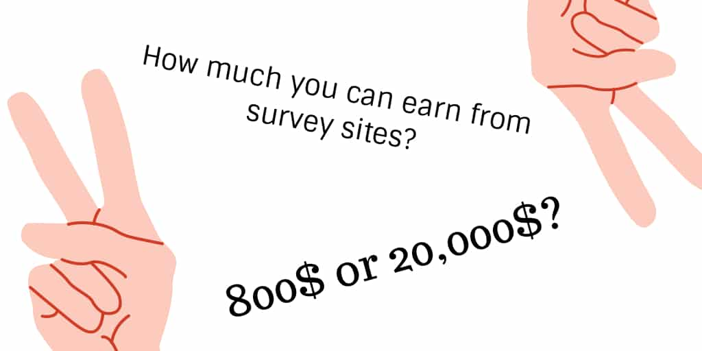 How much you can earn from each survey sites